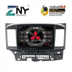 "Mitsubishi Lancer 2007+  RC AUDIO KD-1105  Ekran 10,1"" Android 8.0  Ekran GPS Navi WiFi 4GB RAM 32GB FLASH DAB+"