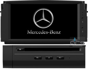 Mercedes C-klasa W204 2007-2012 ACS-8265W Android 8 CPU 8x1.5GHz Ram 2GHz Dysk 32GB Ekran HD MultiTouch OBD2 DVR DVBT BT Kam DVD
