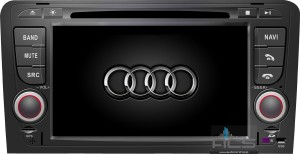 Audi A3 8P 2003-2012 ACS-8949W  Android 8 CPU 8x1.5GHz Ram 2GHz Dysk 32GB Ekran HD MultiTouch OBD2 DVR DVBT BT Kam DVD