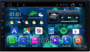 ACS-7102MA8 Radio 2 Din 7 Cali bez DVD Android 8 CPU 8x1.6GHz Ram 2GHz Dysk 32GB Ekran HD MultiTouch OBD2 DVR DVBT BT Kam