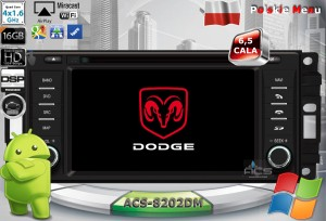Dodge Avenger Caliber Challenger Charger Dakota  ACS-8202Drl Android 9/10 CPU 8x1.87GHz Ram4GB Dysk32GB DSP DVD GPS Ekran HD MultiTouch OBD2 DVR DVBT BT Kam