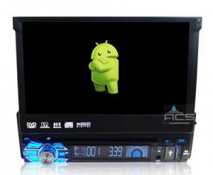 ACS-7116MA Radio 1 Din 7 Cali z DVD Android 8 CPU 8x1.6GHz Ram 2GHz Dysk 32GB Ekran HD MultiTouch OBD2 DVR DVBT BT Kam