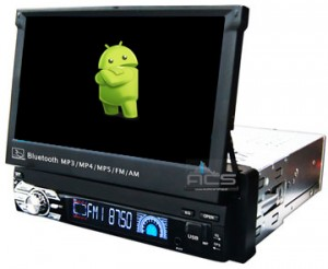 ACS-7123MA Radio 1 Din 7 Cali bez DVD Android 8 CPU 8x1.6GHz Ram 2GHz Dysk 32GB Ekran HD MultiTouch OBD2 DVR DVBT BT Kam